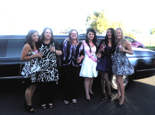 Altona limousine hire for a hens night  out on the town!