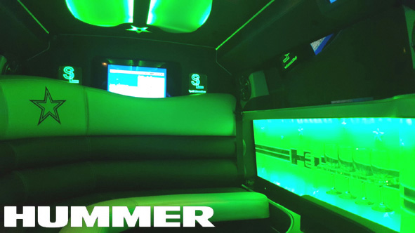 Inside the awesome Hummer limousine