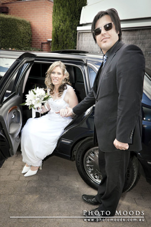 Chauffeur and bride Essendon