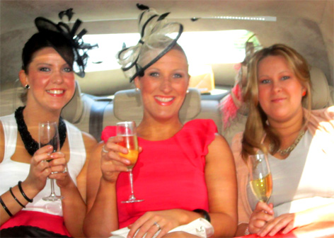 Celebrating a win at the Spring Racing Carnival at Flemington