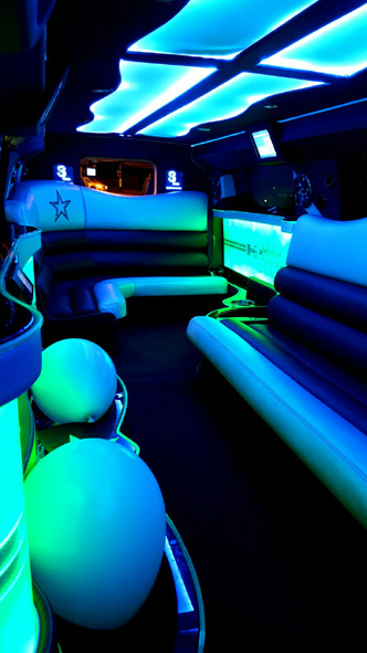 Inside the Hummer limo